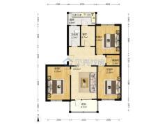 (杨村(老城))春蕾巷3室2厅1卫91m²简单装修,临近二