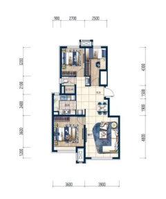 (下朱庄(南湖))保利梧桐大道3室2厅1卫90m²毛坯房