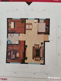 亚泰澜公馆2室2厅1卫88.04m²毛坯房
