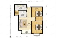 (徐官屯)运泽花园2室2厅1卫84.75m²毛坯房