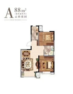 (南湖)碧桂园云湖2室2厅1卫88m²毛坯房