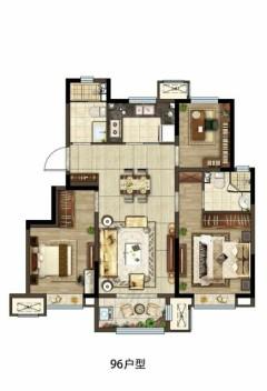 (南湖)新城湖畔风华3室2厅1卫94m²毛坯房