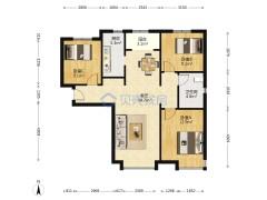 (东蒲洼)富力尚悦居4室1厅1卫110m²简单装修