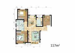 新上!急售好房,(泗村店)鑫苑汤泉世家3室2厅2卫117m²